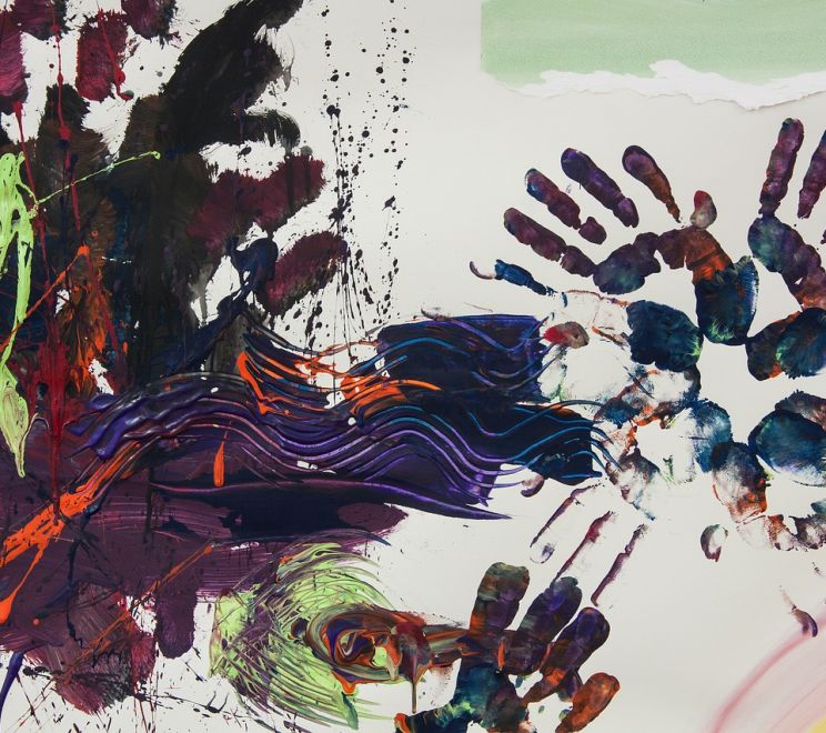 Art Therapy Hand Hands Reprint